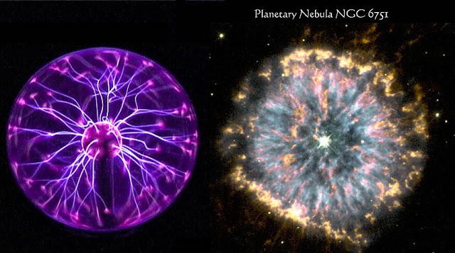 Asombrosa y significativa similitud entre una esfera de plasma y la nebulosa NGC 6751
