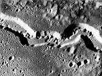 Detalle del cráter Schroter Valley (Luna)
