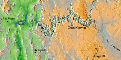 Mapa del Gran Cañón del Colorado
