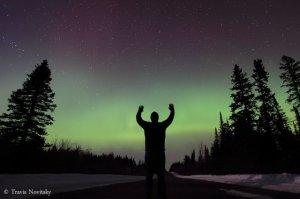 Aurora boreal en USA el 11 de marzo de 2011