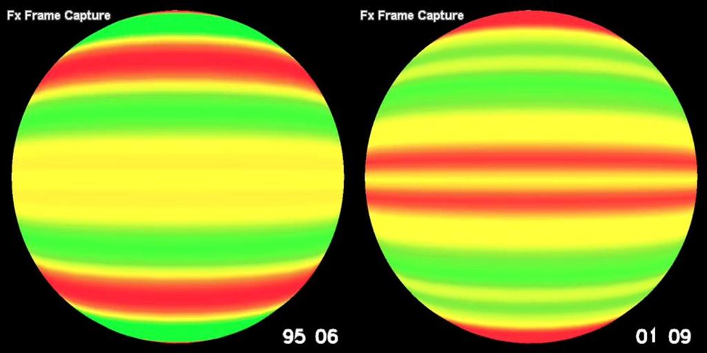 Corrientes de plasma en un mínimo y en un máximo solar