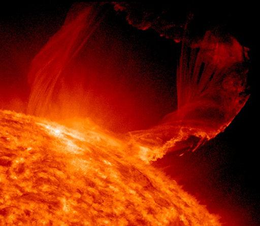Filamento helicoidal en una llamarada solar 19-03-2011
