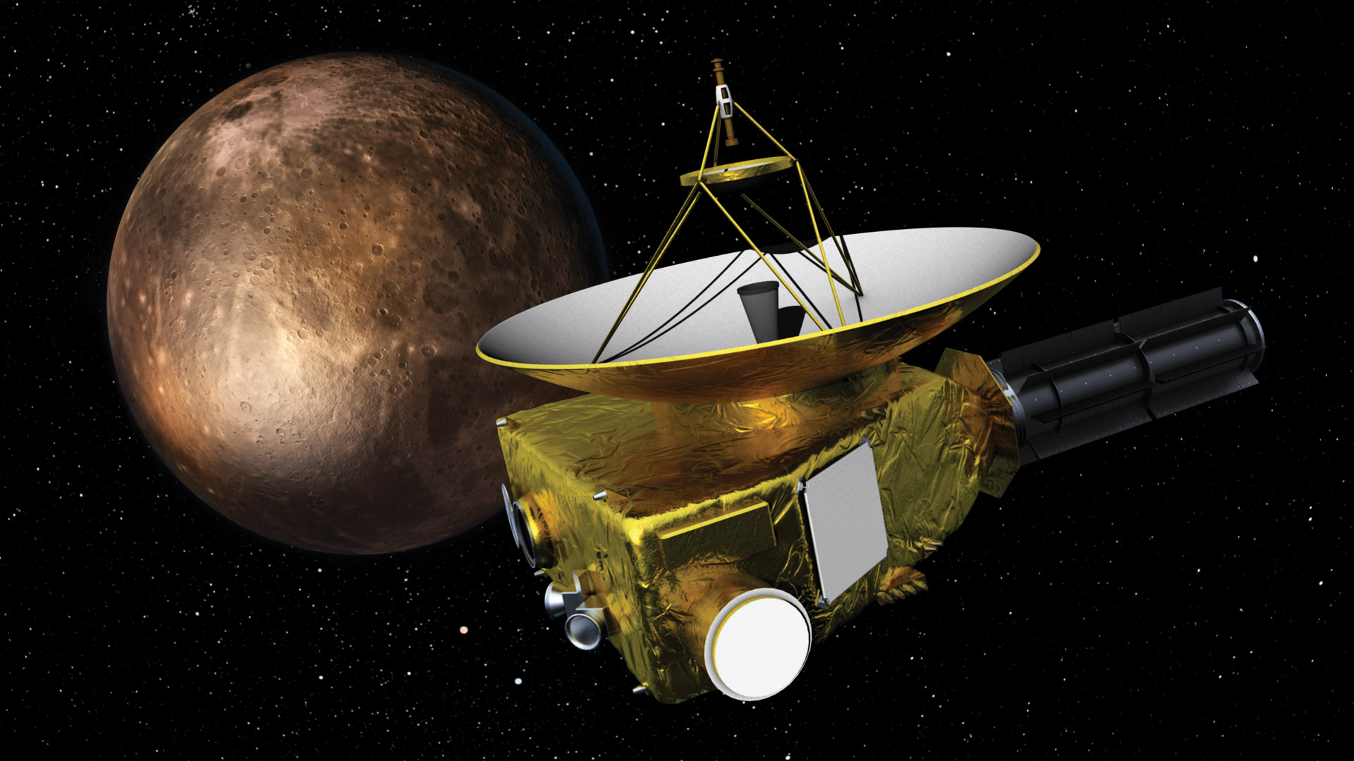 Universo Eléctrico. Sonda New Horizons en Plutón, julio 2015