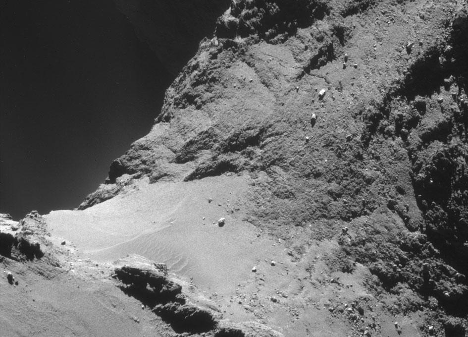 dunas en el cometa 67P
