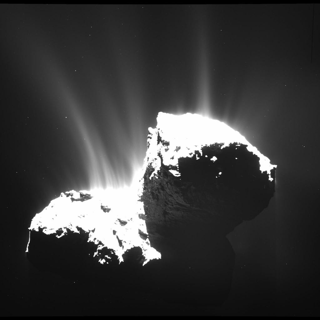 Plasma eléctrico en el cometa 67P